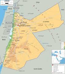 Asia Physical Map Physical Map Of Jordan Ezilon Maps