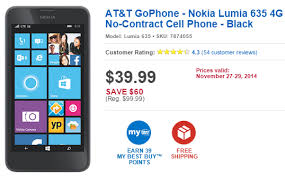 best deals on cell phones on black friday bestbuy to sell the nokia lumia 635 for only 39 99 on black