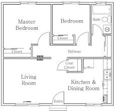 Two Bedroom Floor Plans Simple Bedroom House Floor Plans Home And For Two Homes