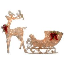reindeer and santa s sleigh with led lights national tree