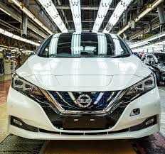 nissan leaf used uk 2018 nissan leaf production starts in japan u s and uk to follow