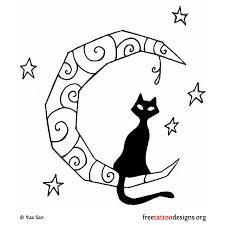 moon designs moon tattoos cat tattoos black cats s