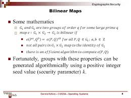 bilinear map cyrtographic security identity based encryption 1dennis kafura