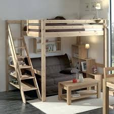 mezzanine avec canapé lit en hauteur avec canape retour haut lit mezzanine avec canape