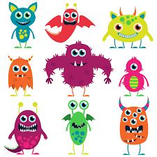 cute halloween cartoons cartoon monster cliparts clip art library
