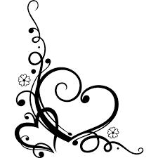 Wall Tat by Decorative Love Heart Floral Wall Art Sticker Wall Decal Transfers