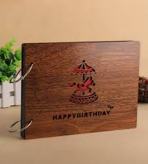 4 by 6 photo album buy brown wood 10 x 4 x 6 inch happy birthday pasted scrap book