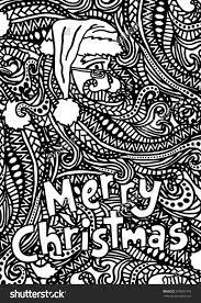 christmas santa coloring zentangle pattern christmas