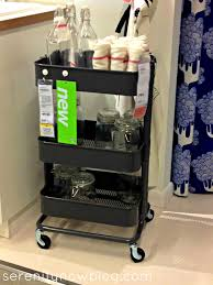 accessories pleasing utility cart rolling gray pes ikea dorm