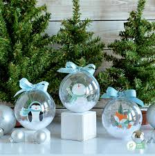 snow globe ornaments pebbles inc