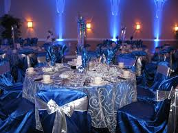 inspirations royal blue and silver wedding decorations with royal