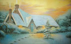 Christmas House by Nice Christmas House Painting Background Gallery Yopriceville