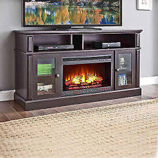 Fireplace Console Entertainment by Electric Fireplace Tv Stand Media Storage Flame Heater Laminated