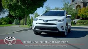 toyota how to rav4 hybrid and highlander hybrid sequential shift
