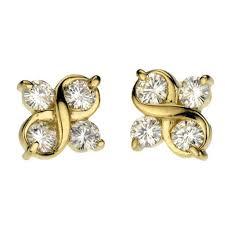 moissanite earrings 1 25ct moissanite earrings four twist studs