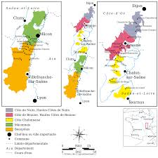 Wine Map Of France by Burgundy Wine Wikipedia