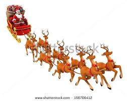 Christmas Decorations Santa Sleigh And Reindeer by Santa Sleigh Stock Images Royalty Free Images U0026 Vectors