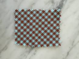 robin egg blue hamptons gingham collar in robin s egg blue chocolate brown
