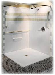 accessible handicap corner showers