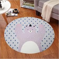 tapis rond chambre enfants chambre tapis de bande dessinée ours renard tapis rond 60