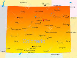 Aurora Colorado Map by Large Detailed Map Of Colorado With Cities And Roads Georgia Usa