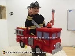 Fireman Halloween Costume Cool Homemade Fireman Fire Truck Halloween Costume