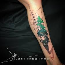 paradise gathering tattoos abstract pine tree