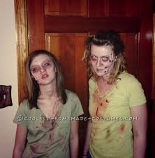 mother and daughter zombie couple costume halloween costume