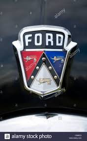 Vintage Ford Truck Emblems - classic ford usa car badge radiator grille logo insignia on a