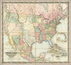 The Map Of United States Of America by Of The United States Of America Colton J H 1848