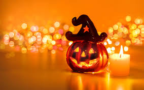 hallowen download funny pumpkin and candle in fire halloween party