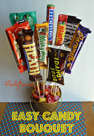 How To Make A Candy Bouquet Easy Candy Bouquet Diy Fathers Day Gift Idea Kids Pinterest