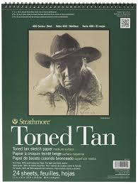 amazon com strathmore 400 series toned tan sketch pad 11