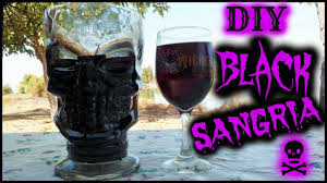black sangria cocktail easy recipe how to make a halloween