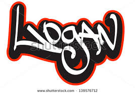 joseph graffiti font style name hiphop stock vector 139576961