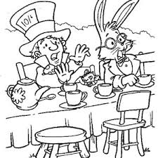 mad hatter white rabbit tea party alice wonderland