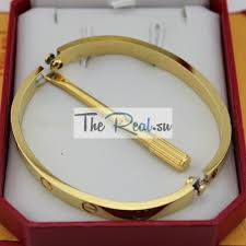 bracelet cartier love images Cartier love bracelet replica yellow gold plated real with screwdriver jpg
