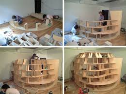 build wooden bookshelf woodworking design furniture