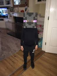Minecraft Enderman Halloween Costume Build Minecraft Head U2014 Daddy Poppins