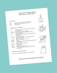 wedding itinerary for guests putting together your wedding day itinerary