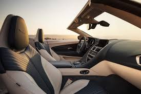 aston martin db11 interior aston martin db11 volante is one convertible autotribute
