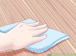 the best ways to get water stains wood wikihow