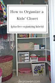 easy system for organizing a kid u0027s closet