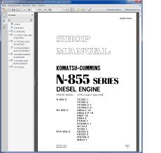 cummins komatsu n 855 series diesel engine