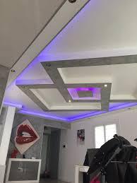 faux plafond led plafond placo design relief led deco mezben