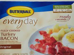 butterball cooked turkey fully cooked turkey bacon nutrition information eat this much