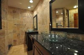 Clear Glass Bathroom Sinks - imposing cabinet ideas for small bathrooms with clear glass vessel