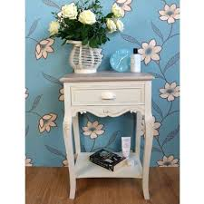 side table shabby chic small round side table white side table