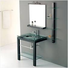 Glass Bathroom Sink Vanity Blue Glass Vessel Sinks For Bathrooms Effectively Doc Seek
