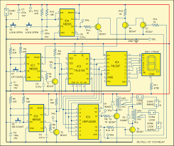 On Off Timer Circuit Diagram Automatic Room Lock And Lights Circuit Electronics For You
